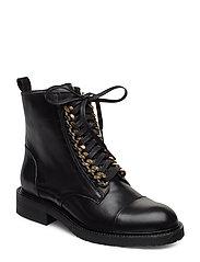 BOOTS - BLACK CALF/GOLD 602