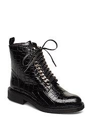 BOOTS - BLACK CROCO/SILVER 203 X