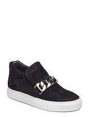 SHOES - BLACK SUEDE/SILVER 503