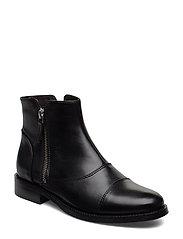 BOOTS - BLACK CALF/SILVER 603