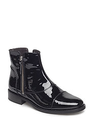 BOOTS - BLACK PATENT /SILVER 200