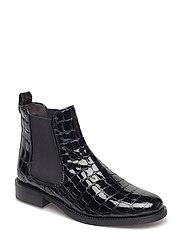 BOOTS - BLACK CROCO PATENT R