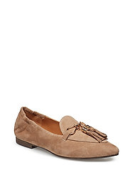 SHOES 8024 - DARK TAUPE 1542 SUEDE/GOLD 572