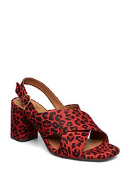 SANDALS 8112 - RED LIPS LEOPARDO SUEDE 548