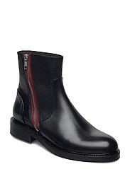 Boots 83450 - BLACK CALF /RED ZIP 80