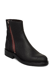 Boots 83450 - BLACK SNAKE/RED ZIP 30