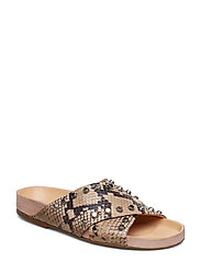 SANDALS 8642 - NUDE 916 SNAKE/SILVER 383