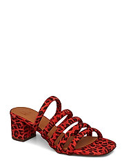 SANDALS 8723 - RED LIPS SUEDE 599