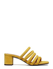 Billi Bi - SANDALS 8723 - heeled sandals - yellow 1795 suede 55 - 1