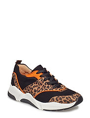 SHOES 8840 - LEO SUEDE/BLACK/ORANGE 545