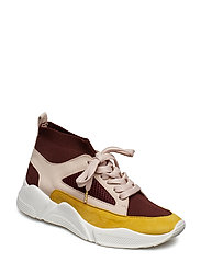SHOES - YELLOW/BURGUNDY COMB. 558