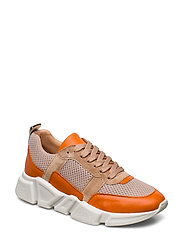 SHOES 8853 - ORANGE/BEIGE COMB.