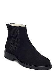 Boots 93451 - BLACK SUEDE/RED ZIP 509