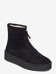 Billi Bi - Warm lining 14860 - flat ankle boots - black suede/silver 503 - 0