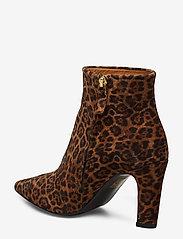 Billi Bi - Booties 3365 - ankelstøvler med hæl - cuoio leopardo suede 562 - 2