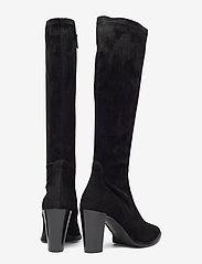 Billi Bi - Long Boots 3396 - pitkävartiset saappaat - black suede/black stretch 500 - 4