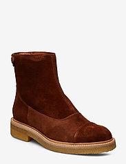Billi Bi - Boots 3530 - flate ankelstøvletter - cognac 1614 suede 552 v - 0