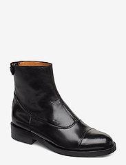 Billi Bi - Boots 3542 - platte enkellaarsjes - black baby buffalo 603 - 0