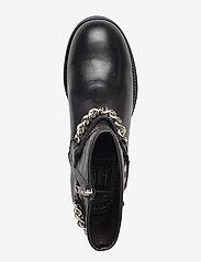 Billi Bi - Boots 3570 - flate ankelstøvletter - black calf/silver 803 - 3