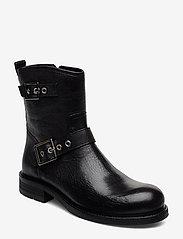 Billi Bi - Boots 3571 - flate ankelstøvletter - black virgo/silver 803 t - 0