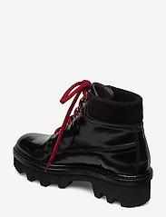 Billi Bi - Boots 3595 - flate ankelstøvletter - black polido/gold 950 - 2