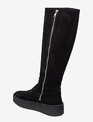 Billi Bi - Warm lining 3604 - pitkävartiset saappaat - black suede 503/silver 503 - 2