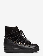 Billi Bi - Warm lining 3605 - flate ankelstøvletter - black tomcat/bl.suede/gold 850 - 1