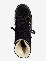 Billi Bi - Warm lining 3605 - flate ankelstøvletter - black tomcat/bl.suede/gold 850 - 3
