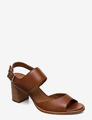Billi Bi - ESPADRILLA - høyhælte sandaler - cognac 5144 buffalo 855 - 0