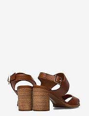 Billi Bi - ESPADRILLA - høyhælte sandaler - cognac 5144 buffalo 855 - 4
