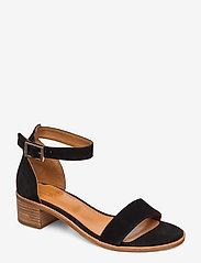 Billi Bi - Sandals 4182 - høyhælte sandaler - black babysilk suede 500 - 0
