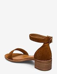 Billi Bi - Sandals 4182 - høyhælte sandaler - cognac 1613 babysilk suede 555 - 2
