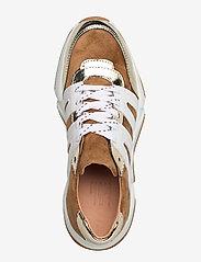 Billi Bi - Sport 4280 - sneakers med lav ankel - gold/beige/white comb.222 - 3