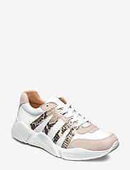 Billi Bi - Sport 4280 - sneakers med lav ankel - beige/white/beige snake 733 - 0