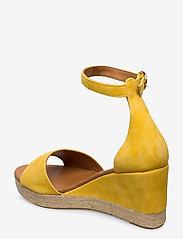 Billi Bi - Espadrilles 4332 - espadrilles med hæl - yellow 1795 suede 56 - 2
