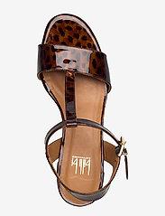 Billi Bi - Sandals 4606 - høyhælte sandaler - coated leo 942 - 3