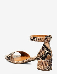 Billi Bi - Sandals 4607 - høyhælte sandaler - beige 6071 snake 34 p - 2