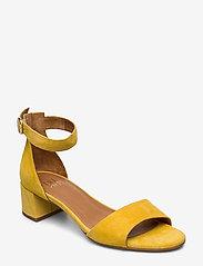 Billi Bi - Sandals 4607 - høyhælte sandaler - yellow 1795 suede 56 - 0