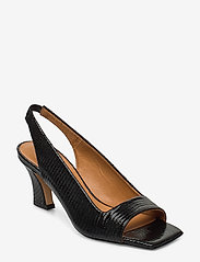 Billi Bi - Sandals 4636 - peeptoes - black lizard 300 - 0
