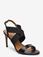 Billi Bi - Sandals 4691 - høyhælte sandaler - black calf/elast. 80 - 0