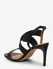 Billi Bi - Sandals 4691 - høyhælte sandaler - black calf/elast. 80 - 2