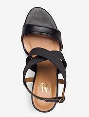 Billi Bi - Sandals 4691 - høyhælte sandaler - black calf/elast. 80 - 3