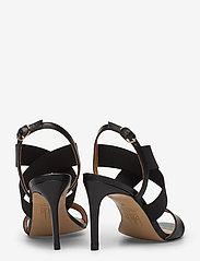 Billi Bi - Sandals 4691 - høyhælte sandaler - black calf/elast. 80 - 4