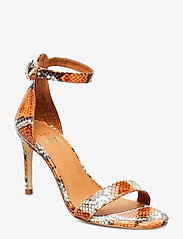 Billi Bi - Sandals 4693 - høyhælte sandaler - orange 944 snake 37 - 0