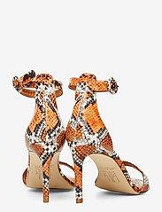 Billi Bi - Sandals 4693 - høyhælte sandaler - orange 944 snake 37 - 4