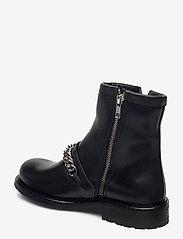 Billi Bi - Boots 4799 - flat ankle boots - black tomcat/silver 803 - 2