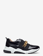 Billi Bi - Sport 4862 - sneakers med lav ankel - black luisiana croco/gold 102 - 1