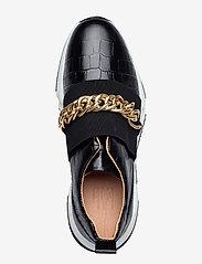 Billi Bi - Sport 4862 - sneakers med lav ankel - black luisiana croco/gold 102 - 3