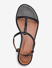 Billi Bi - SANDALS - zempapēžu sandales - black metal nappa 700 - 3