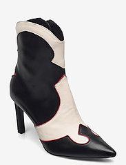 Billi Bi - Booties - enkellaarsjes met hak - black/red/white comb. 893 - 0